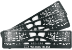 Manufacture of license plate frames