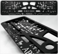 "40391 License plate frame R-3 the zodiac sign ""Aries"""