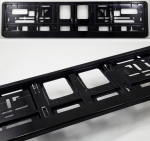 Black (metallic) color license plate frame R-6