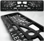 "40281 License plate frame R-3 the zodiac sign ""Leo"""