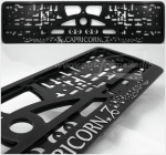 "40341 License plate frame R-3 the zodiac sign ""Capricorn"""