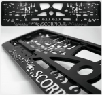 "40291 License plate frame R-3 the zodiac sign ""Scorpio"""