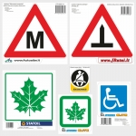 Vehicle information signs, stickers