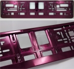 Violet (metallic) color license plate frame R-6