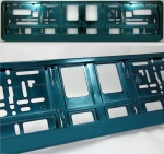 Aquamarine (metallic) color license plate frame R-6