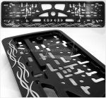 "50711 License plate frame R-3 ""Flames"""