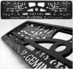 "40321 License plate frame R-3 the zodiac sign ""Gemini"""