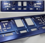 Blue (metallic) color license plate frame R-6